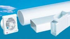 Системы круглых и плоских ПВХ каналов (вентиляторы, решетки, дверцы, комплектующие вентиляции) в Казани